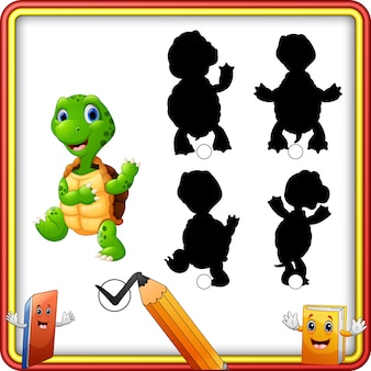 Shadow matching of turtle game