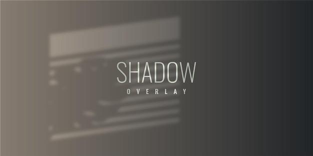 Дизайн шаблона иллюстрации фона наложения тени
