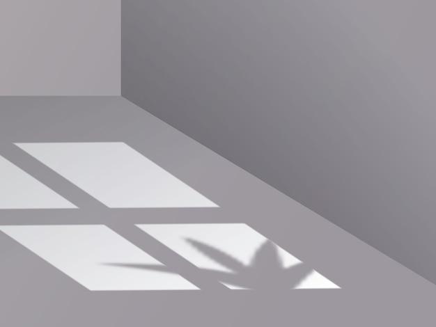 Тень наложения фона с окном и растением
