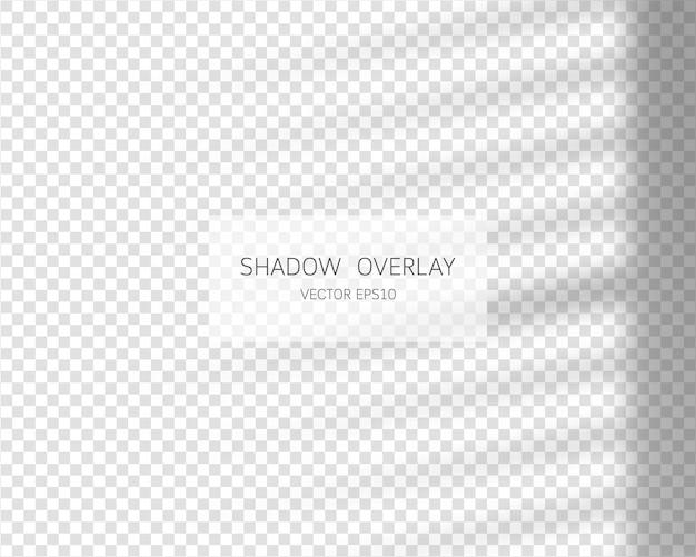 シャドウオーバーレイ効果透明な背景に分離されたウィンドウからの自然な影ベクトルイラスト