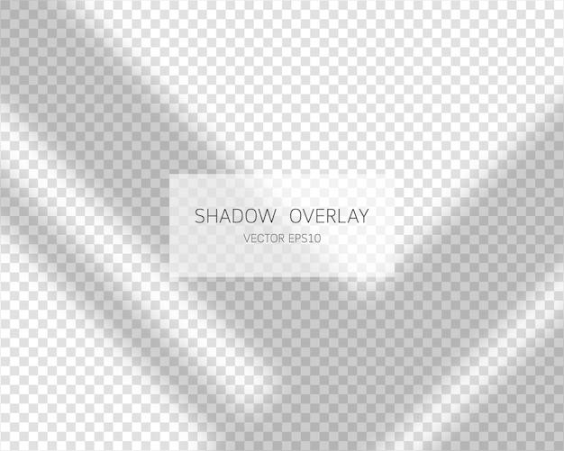 シャドウオーバーレイ効果透明な背景で分離されたウィンドウからの自然な影