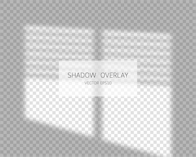 シャドウ オーバーレイ効果。分離されたウィンドウからの自然な影