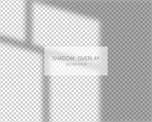 Shadow overlay effect. natural shadows from window isolated