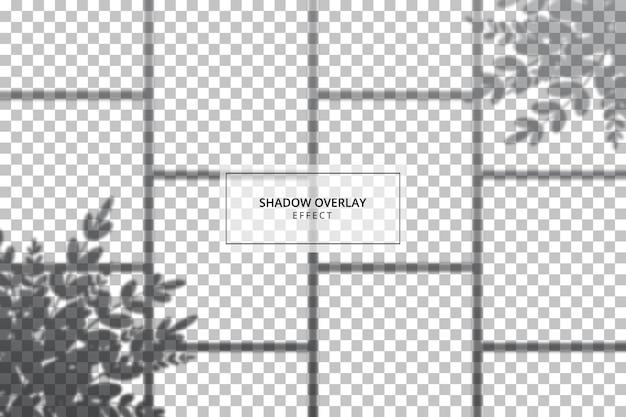 透明な背景にシャドウオーバーレイ効果
