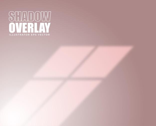 シャドウオーバーレイ効果ウィンドウフレームパステルカラー背景