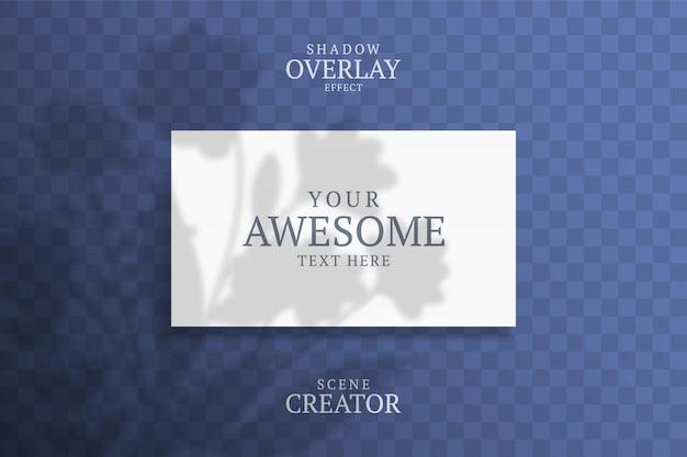 Shadow overlay визитная карточка.