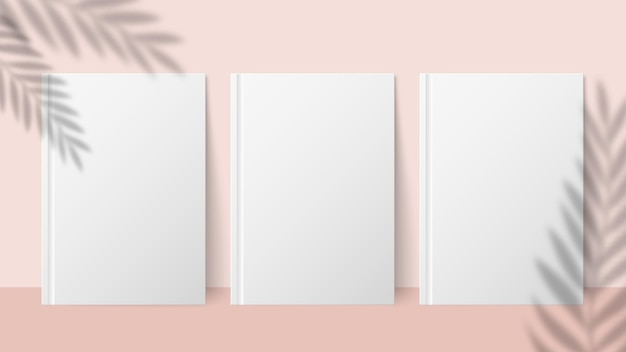 Shadow plant. overlay palm leaf effect on paper sheet. summer invitation or card or poster. vector minimalistic blurred banner mockup. paper sheet with palm leaf shadow illustration