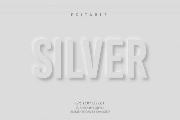 Shadow silver editable text effect