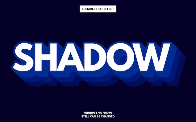 Shadow style editable font effect