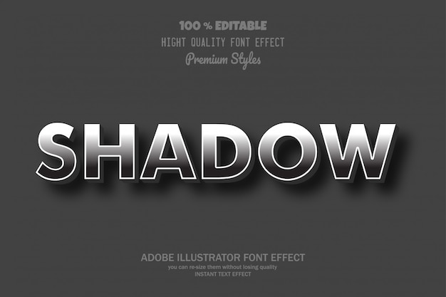 Shadow text,  font effect