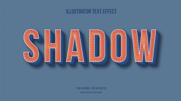 Shadow, vintage text effect