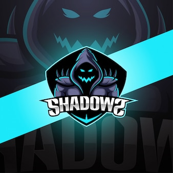 Shadows esport mascot logo design