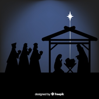 Shadows nativity scene