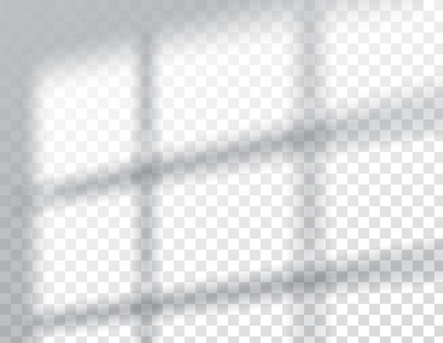 그림자 오버레이 효과, 창틀 자연 채광, 일러스트레이션.