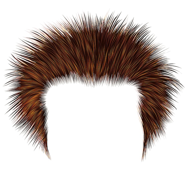 Shaggy man hairs red colors