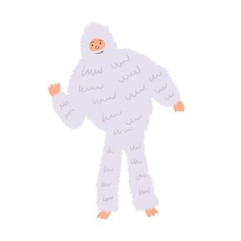 Shaggy yetti bigfoot snowman