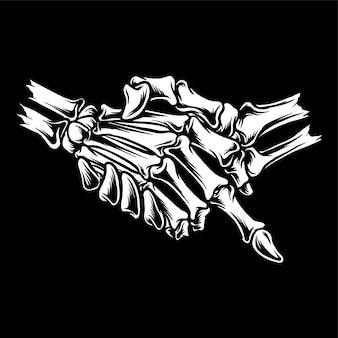Рукопожатие скелета