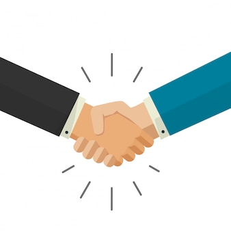 Shaking hands vector illustration isolated on white background