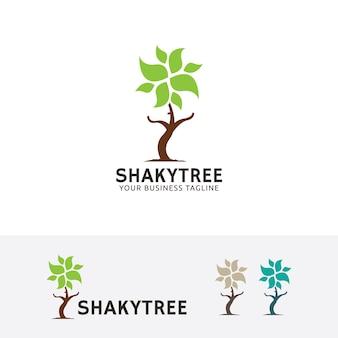 Shaky tree vector logo template