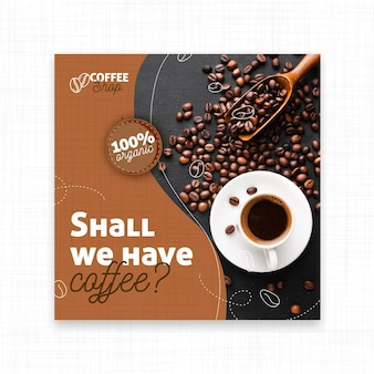 Shall we have coffee square flyer