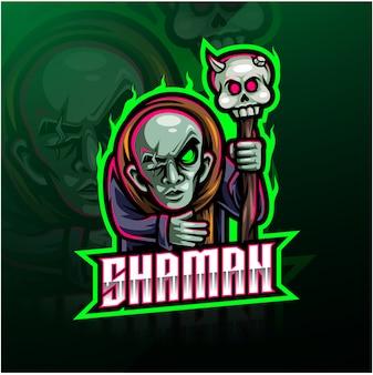 Shaman sport mascot logo
