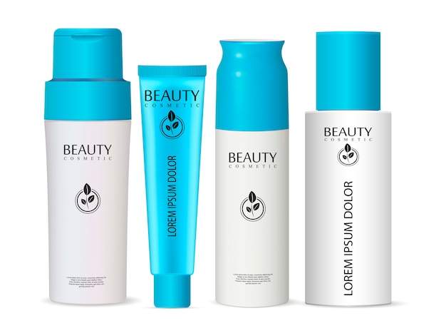 Shampoo bottle can cream tube cosmetic bottles set