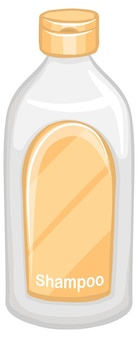 Bottiglia di shampoo isolato su sfondo bianco