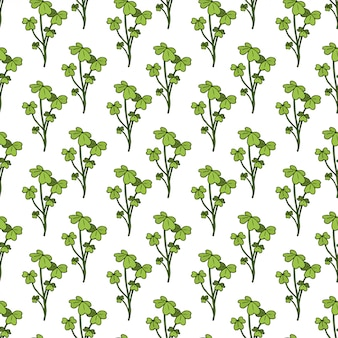 Shamrock seamless pattern