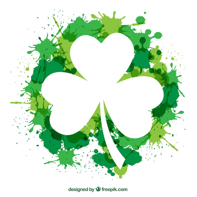 clover vectors photos and psd files free download rh freepik com four leaf clover vector outline 4 leaf clover vector image