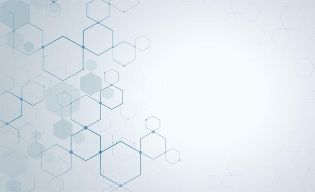 The shape of hexagon background