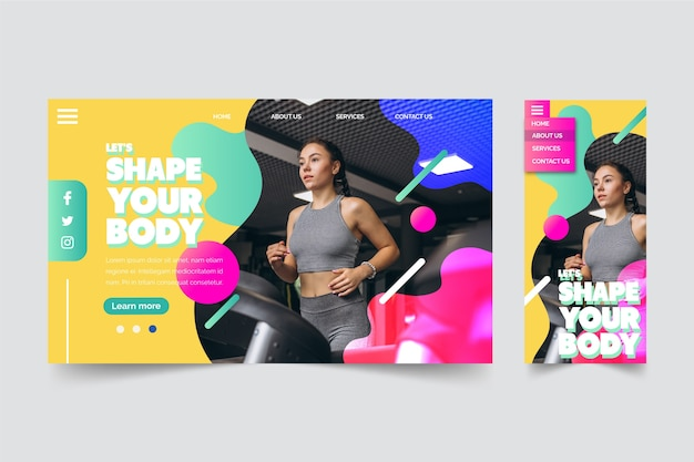 Shape your body landing page