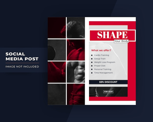 Shape your body social media post template