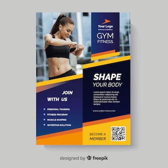 Shape your body sport flyer with photo