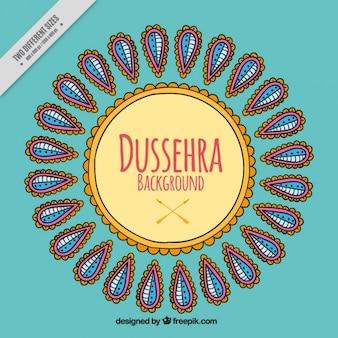 Shaped ornamental background of dussehra