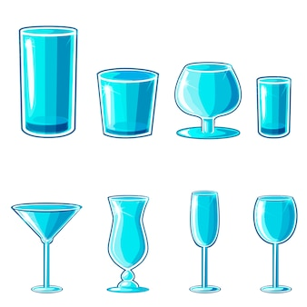 Shaped wineglass, game element vector