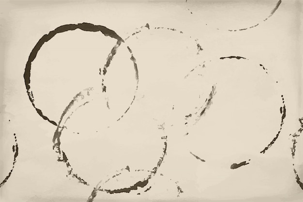 Shapes of beer, wine and coffee ring stains background