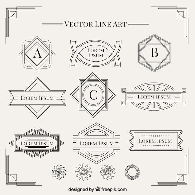 art deco vectors photos and psd files free download rh freepik com art deco vector art art deco vector clip art furniture designs