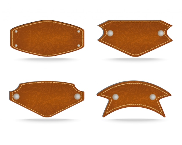 Shapes of leather tag