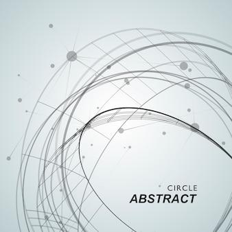 抽象的な円shapesラインとドット