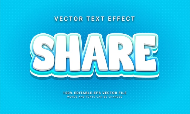 Share editable text style effect