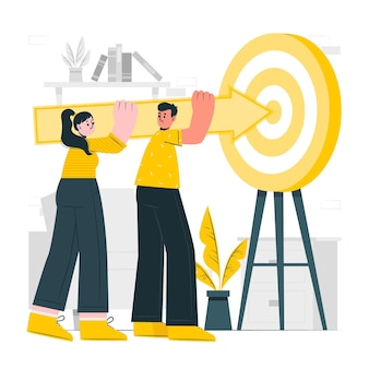 Shared goals concept illustration