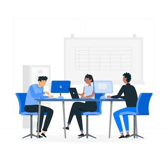 Shared workspaceconcept illustration