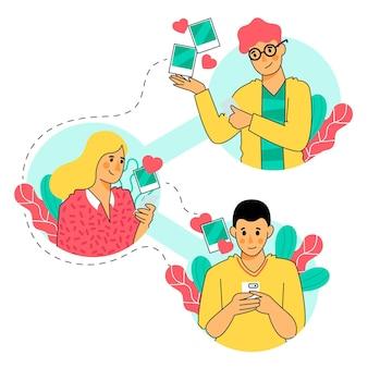 Поделиться контентом в социальных сетях