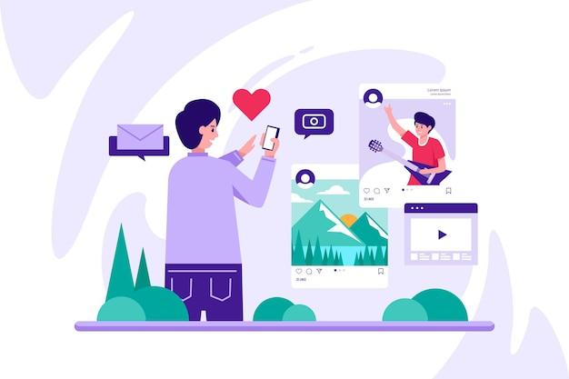 Sharing content on social media