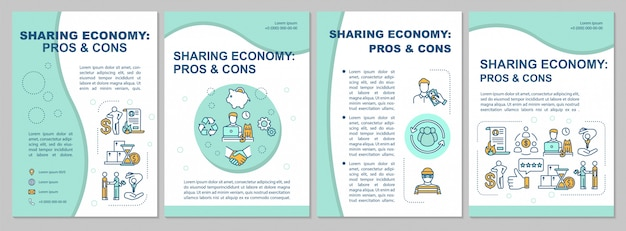 Sharing economy pros and cons brochure template
