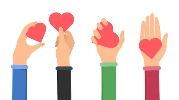 愛と平和を平らに共有する