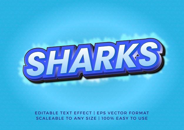 Эффект декоративного текста с надписью shark 3d