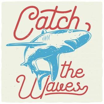 サメの素晴らしいイラスト