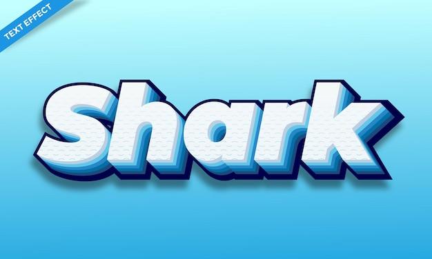 Акула синее море текстовый эффект дизайн
