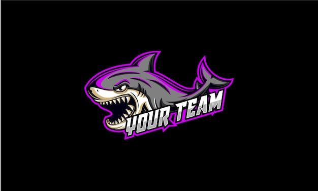 サメのeスポーツのロゴ